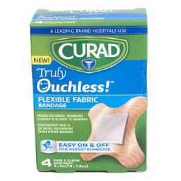 48 of Bandages Curad 4ct Ouchless Knee & Elbow Silicone