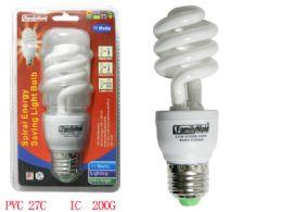 72 of 11 Watt Energy Saving Spiral Lightbulb