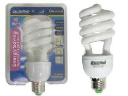 72 of 32 Watt Energy Saving Spiral Lightbulb
