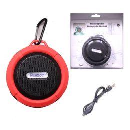 12 of Waterproof Bluetooth Shower Speaker In Red