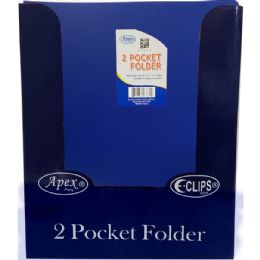 "48 of Navy Plastic 2 Pocket Folders - 9.5"" X 11.5"""