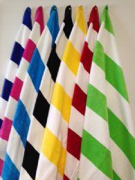 12 of Luxury Jacquard Cabana Stripe Beach Towel 35 X 60 Aqua / White