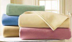 8 of Platinum Fleece Luxury Blankets Twin 66 X 90 Light Blue