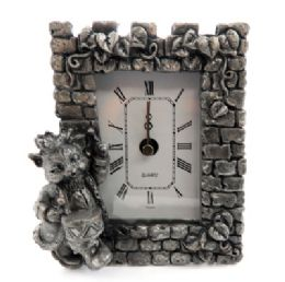10 of Pewter Framed Clock With A Cat As A Drummer