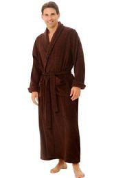 4 of Tahoe Fleece Shawl Collar Robe In Brown