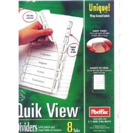 48 of Postfax Quick View Tab Dividers 5pk.w/wrap Around Labels