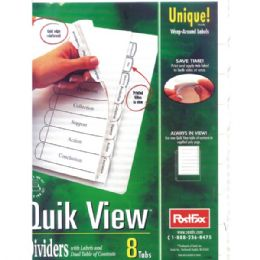 48 of Postfax Quick View Tab Dividers 8pk.w/wrap Around Labels