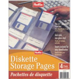 40 of Post Fax Diskette Storage Pages 4pk.