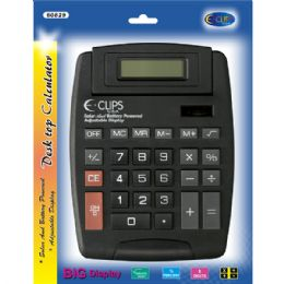 48 of Calculator, Desk Top, Solar & Battery Powered, Adjustable Display