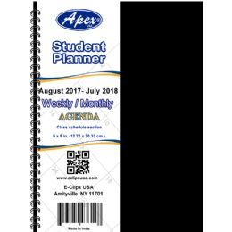 60 of 2017 - 2018 Student Agenda, Double Wire, 5x8, Blue, Red
