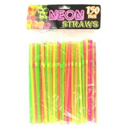 75 of Neon Party Straws