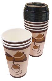 48 of Hot Cups 16 Pk 8 Oz - 8 Cups + 8 Lids