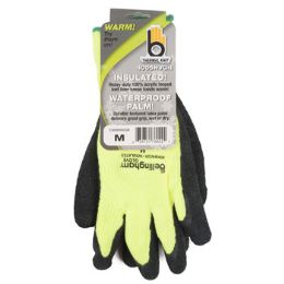 72 of Medium Insulated Thermal Knit Green Glove