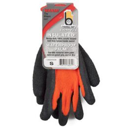 72 of Small Insulated Thermal Knit Orange Glove Hvy Duty Latex