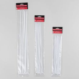 96 of 16pc Jumbo White Cable Ties