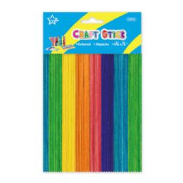 96 of Colored Wooden Craft Stick