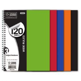 48 of 3 Subject 120 Count Notebook Poly Cover