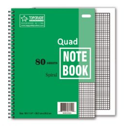 96 of 80 Count Quad Ruled Spiral Book