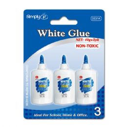 96 of White Glue 3 Count/40g