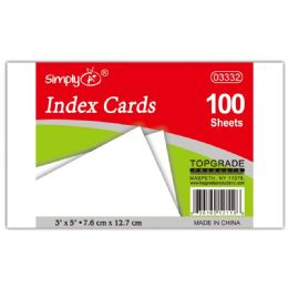 108 of 100 Count Unruled Index Card