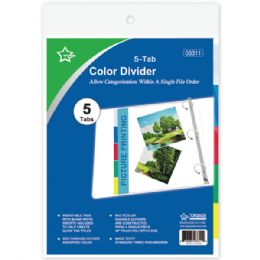 96 of Three Ring Binder Dividers With Five Tabs