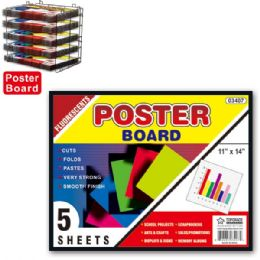 """96 of Poster Board Neon 11x14""""/5 Count"""