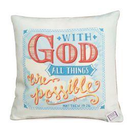 60 of Pillow 12x12 Matthew 19:26