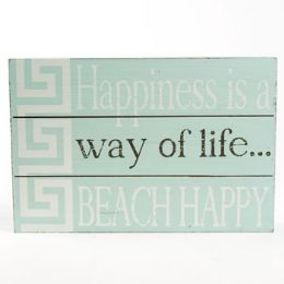 36 of Wall Sign 7.25x11.75 Beach Happy Wooden