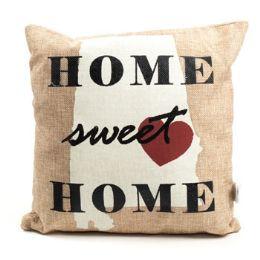 36 of 12 X 12 Alabama Burlap Cover Pillow
