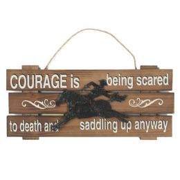 48 of 15.5x7 Courage Cowboy Wooden