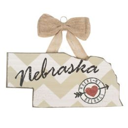 72 of Wall Sign 5.5 Inch Nebraska Wooden