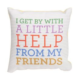 100 of Help From My Friends 8 X 8 Pillow