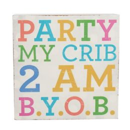 96 of Wall Decor Party My Crib 4 X 4 Mdf