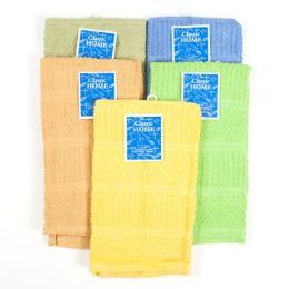 144 of Dish Cloth 15x15 6 Asst Colors