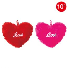 """96 of 10"""" Embroidery Velvet Heart"""