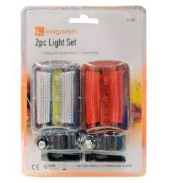 48 of 2 Piece Bicycle Safety Flashlight Set