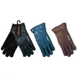 48 of Men's Gloves Man Made Leather