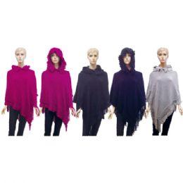 12 of Lady's Hooded Knit Cloak