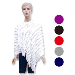 12 of Lady's Knit Cloak In Assorted Colors