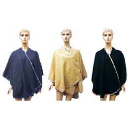 12 of Lady's Woolen Cloak Assorted Colors