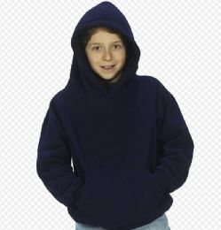 24 of Youth Hooded Pullover Sweatshirts In Navy