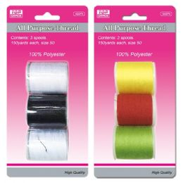 96 of Three Piece Thread Assorted Colors