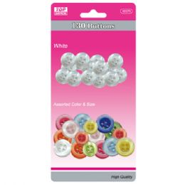 96 of Buttons White And Colored Set