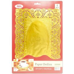 96 of 4 Count Doilies Gold