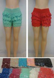 24 of Ladies Fashion Crochet Shorts