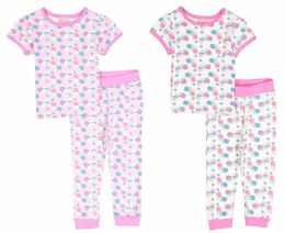 24 of Infant Girls Pajama - Seashell Prints - Sizes 6-24m