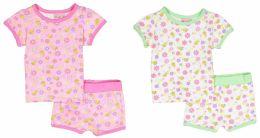 24 of Infant Girls Pajama - Flower Prints - Sizes 6-24m