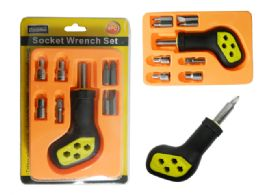 72 of 9pc Socket Wrench Screwdriver Set