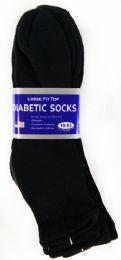 36 of Men's Black Ankle Diabetic Sock