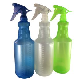 48 of Spray Bottle 34 Ounce Assorted Colors